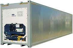 40' рефрижераторный контейнер увеличенный по высоте